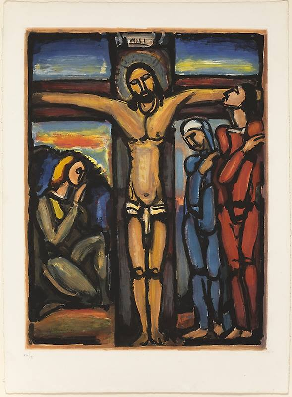 Christ on the Cross - Georges Rouault (1936)
